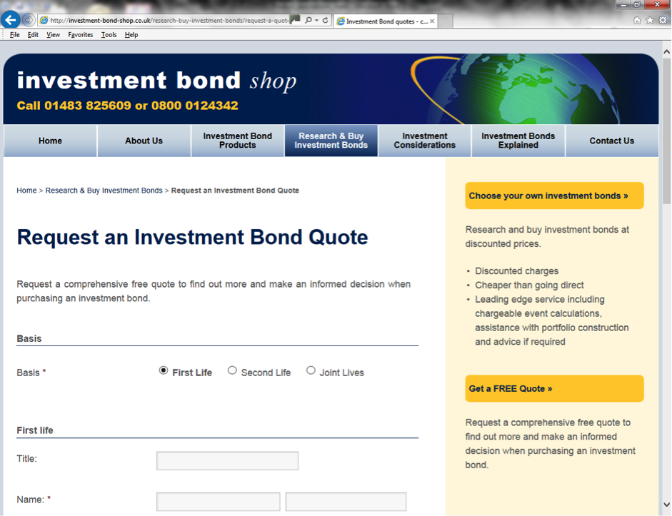 Investment Bond Quotes